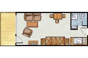 Kleines Ferienappartements Grundriss